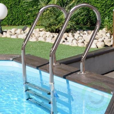 Сглобяем басейн дървена облицовка - квадратен Gre sunbay