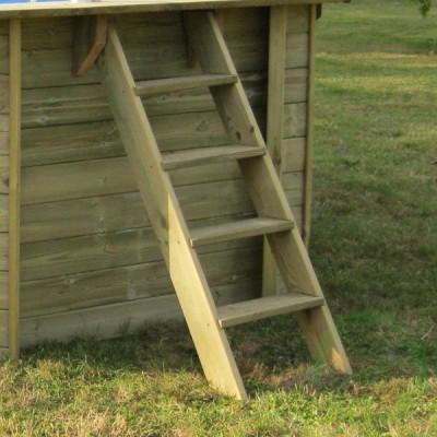 Сглобяем басейн дървена облицовка - овален Gre sunbay