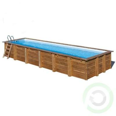 Сглобяем басейн дървена облицовка - правоъгълен Gre sunbay