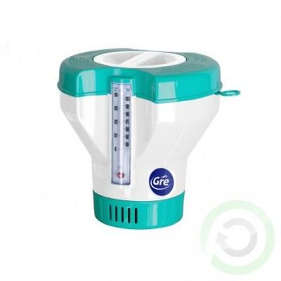 Плуваща кутия таблетки Gre - с термометър