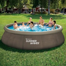 Надуваем басейн - Summer Waves quick set - цвят ратан и филтрираща с-ма