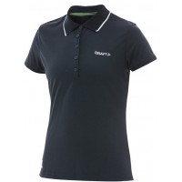 Дамска блуза с якичка Craft itz pique W navy